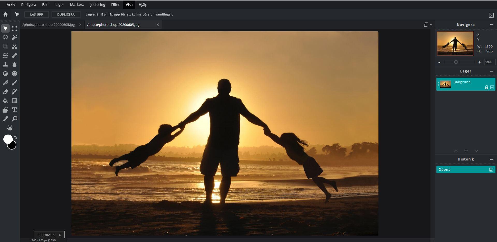 Bildbehandling på webben - Pixlr