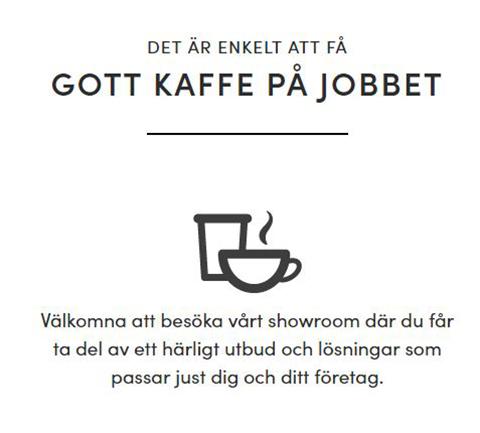 Kaffegreven kan presentera både information och produkter på sin webbplats