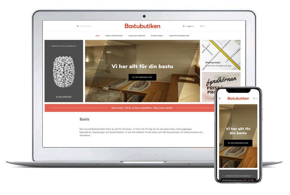 Bastubutiken ny design 2019 - Webbutik