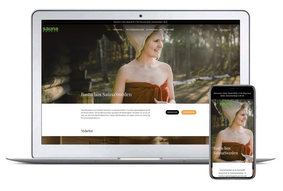 Saunasweden ny design 2019 - Webbutik